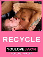 YouLoveJack.com - Jessy Karson - gay hot boy cums in his own mouth